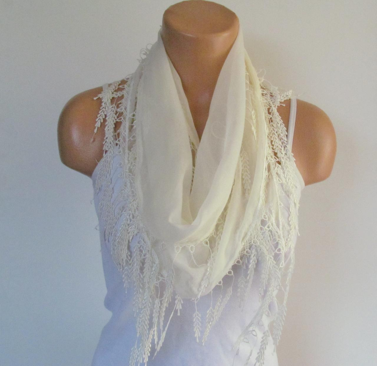 e341615314646 Long Scarf With Fringe-New Season Scarf-Headband-Necklace- Infinity Scarf-